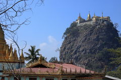 The temple of Mount Popa in Myanmar Stock Photos