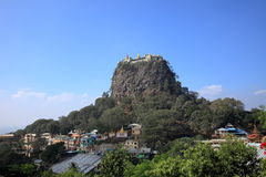 The temple of Mount Popa in Myanmar Stock Images
