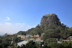 The temple of Mount Popa in Myanmar Royalty Free Stock Image