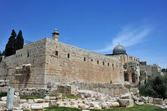 Temple Mount Walls Royalty Free Stock Photography