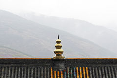 Temple in the mountain. Stock Photography