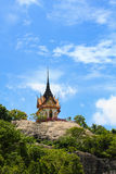 The temple on mountain with blue sky Royalty Free Stock Images