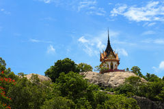 The temple on mountain with blue sky Royalty Free Stock Photography