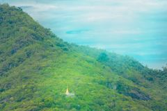 Temple on the mountain stock photography