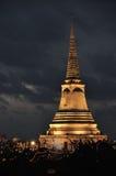 Temple on mountain top at Khao Wang Palace during festival, Petchaburi royalty free stock photo