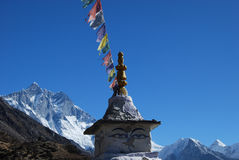 Temple and Mountains Royalty Free Stock Photo