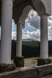 Temple. And Mountains in Romania Stock Photo