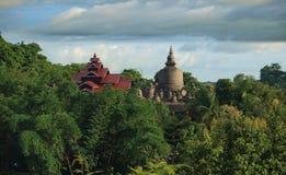 Temple in Mrauk U, sub region of the Sittwe District, Rakhine State, Myanmar. Royalty Free Stock Images