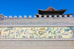 Temple mural royalty free stock photo