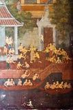 Temple mural Wat Bowon Niwet Wihan Ratchaworawihan Royalty Free Stock Image