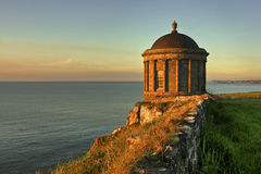 Temple. Mussenden Temple at sunset in june Royalty Free Stock Photos