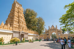 Temple in Mysore Palace Complex Royalty Free Stock Image