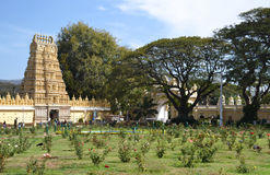 The temple of Mysore palace in India Royalty Free Stock Images