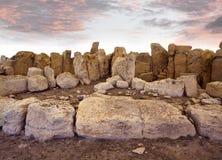 Temple néolithique, Malte image libre de droits