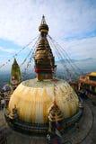 Temple Népal de singe de Swayambhunath Image libre de droits