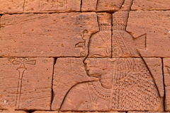 Temple of Naga in the Sahara of Sudan Stock Images
