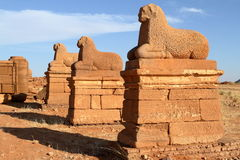 Temple of Naga in the Sahara of Sudan Royalty Free Stock Images