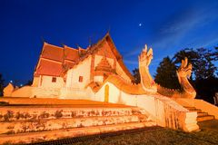Temple in Nan Thailand. Phumin Temple Nan Thailand Stock Photos