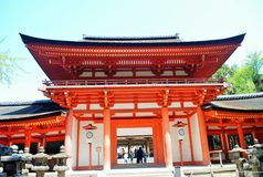 Temple in Nara, Japan Stock Photography