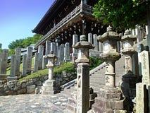 Temple in Nara. Stone lanterns near the temple in Nara Japan Stock Photography