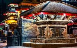 Temple near Durbar Square of Kathmandu at night. Nepal Royalty Free Stock Images