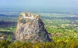 Temple near Mt. Popa Royalty Free Stock Photo