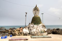 Temple Near Ngwe Saung, Myanmar Stock Image