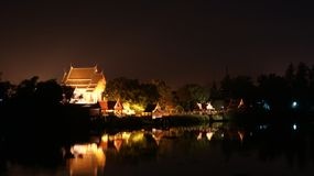 The temple is near riverside at Ayuttaya in thailand. royalty free stock images
