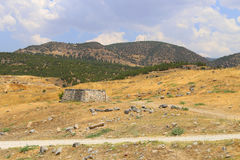 Temple near South Gate in Hierapolis ancient Greco Stock Photography