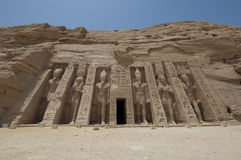 Temple of Nefertari at Abu Simbel Royalty Free Stock Images