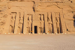 The Temple of Nefertari at Abu Simbel Royalty Free Stock Photography