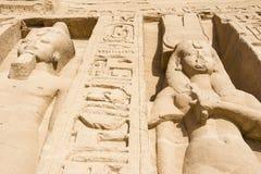 Temple of Nefertari, Abu Simbel, Egypt Stock Images