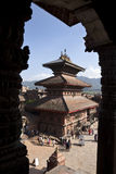 Temple, Nepal. Temple in Bhaktapur near Kathmandu, Nepal Royalty Free Stock Photos