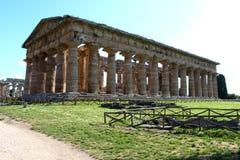 The temple of nettuno - paestum stock photos