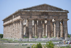 The temple of  Nettuno, ruins of Paestum Stock Image