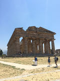 The temple of  Nettuno, ruins of Paestum Stock Photography