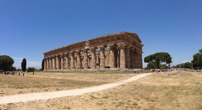 The temple of  Nettuno, ruins of Paestum Royalty Free Stock Image