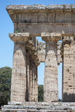 The temple of  Nettuno, ruins of Paestum Royalty Free Stock Photography