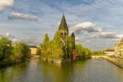 Temple Neuf in Metz/France royalty free stock photography