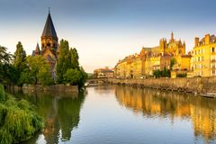 Temple Neuf, Metz France stock photography
