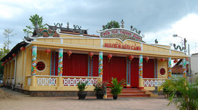 Temple of Nguyen Huu Canh in Bien Hoa, Nai. Bien Hoa, Vietnam - Apr 5, 2015. Temple of Nguyen Huu Canh, a hero in southern Vietnam Royalty Free Stock Photo
