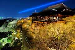Temple at night in Kyoto Royalty Free Stock Photo