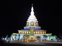 Temple in the night stock photo