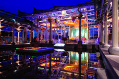 Temple in the night Royalty Free Stock Photo
