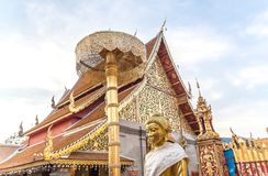 The Temple In North Thailand. `Wat Phrathat Doi Suthep`, located in Chiangmai province, Northern Thailand Stock Image