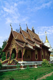 Temple in northern Thailand on blue sky Royalty Free Stock Photography