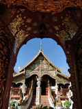 A temple in northern Thailand. A temple in Chiang Rai,northern Thailand Stock Photos
