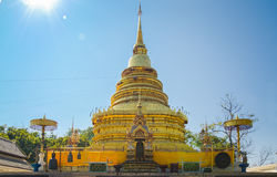 Temple in Northern Thailand. Northern thai buddhist temple with clear sky Stock Images