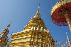 Temple in Northern Thailand. Northern thai buddhist temple with clear sky Stock Photography