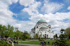 Saint Sava Temple in Belgrade, Serbia. stock images
